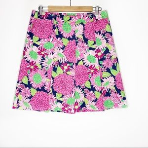 Lilly Pulitzer Floral Multicolor Pleated Skirt